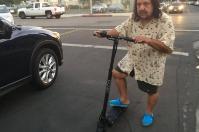 Ron Jeremy Peddles Scooters