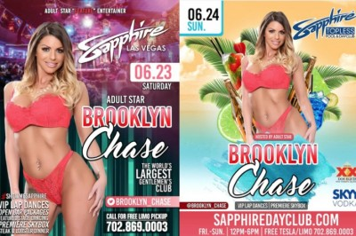 Brooklyn Chase Heads to Vegas to Headline at Sapphire & Host Topless DayClub