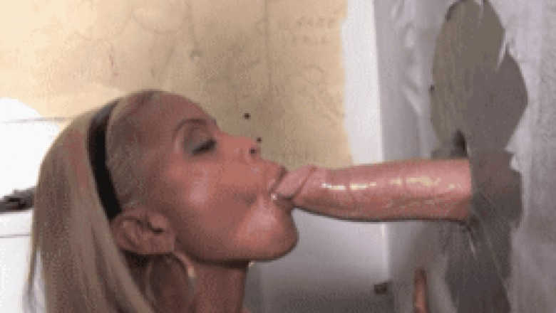 Top of the Super Hottest Glory Hole  Blowjob GIFs