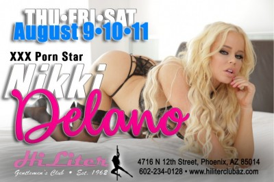 Nikki Delano Headlining at HiLiter Gentlemen's Club in Phoenix, Arizona